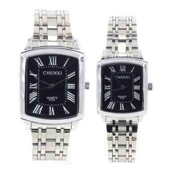 Sevenlight นาฬิกาข้อมือคู่รัก - 9229-8154 (Silver/ Black)