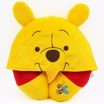 Disney หมอนรองคอ Pooh แบบมี Hood