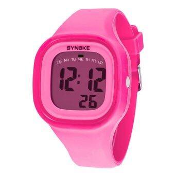 ซิลิโคนแบบไฟ Led นาฬิกาข้อมือเด็กเด็กหญิงกีฬาลูกผู้ชายสีชมพู