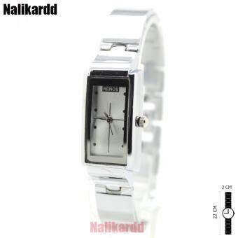 Renos Watch (Bracelet) นาฬิกาสุภาพสตรี สายสร้อยข้อมือ/สแตนเลส หน้าปัดทรงเหลี่ยม ระบบเข็ม