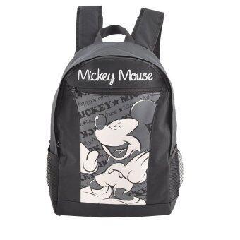 Disney Mickey Mouse กระเป๋าเป้ กระเป๋านักเรียน สะพายหลัง (สีดำ)