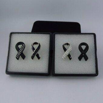 Pearl Jewelry เข็มกลัดโบว์ดำ Gift Sets 4 ชิ้น 4 แบบ Premium