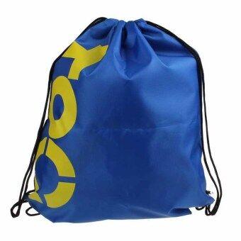 ห้องออกกำลังกายสระว่ายน้ำหาดทรายกันน้ำถุงหูรูดกระเป๋าเป้กระเป๋าผ้าใบกีฬาสีน้ำเงิน