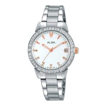 ALBA นาฬิกาข้อมือผู้หญิง รุ่น AG8495X1 (สีเงิน)