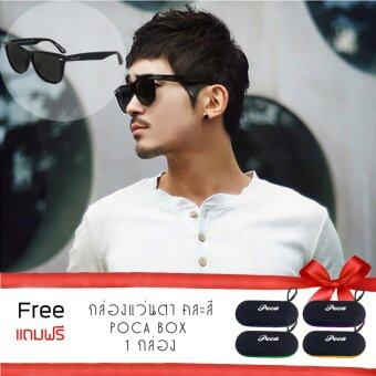 Limited Edition Poca Sunglasses แว่นตากันแดด Polarized AntiUV400 100% รุ่น Black Athena Logo 2140 NG
