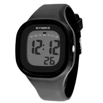 ซิลิโคนแบบไฟ Led นาฬิกาข้อมือเด็กเด็กหญิงกีฬาลูกผู้ชายสีดำ