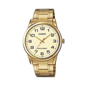 Casio นาฬิกาข้อมือผู้ชาย รุ่น MTP-V001G-9BUDF (สีทอง)