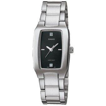 Casio นาฬิกาข้อมือผู้หญิง รุ่น LTP-1165A-1C2 (สีเงิน)