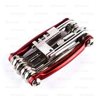 B.I.Y.Garage เครื่องมืออเนกประสงค์ สำหรับซ่อมจักรยาน 11 ชิ้น [ 11 in 1 Mini Bicycle Repair Pocket Folding Tool ]