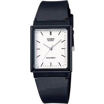 CASIO Standard นาฬิกาข้อมือผู้ชาย สีขาว/ดำ สายยาง รุ่น MQ-27-7EDF
