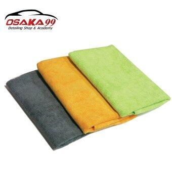 OSAKA99 ผ้าไมโครไฟเบอร์เกรด AAA ขนาด 40x40 แพค 3 ผืน คละสี