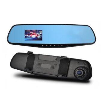 จทจอ Lcd กล้องจับภาพรถพุ่งรถ DVR กระจก DVR พาหนะเครื่องบันทึกวิดีโอ