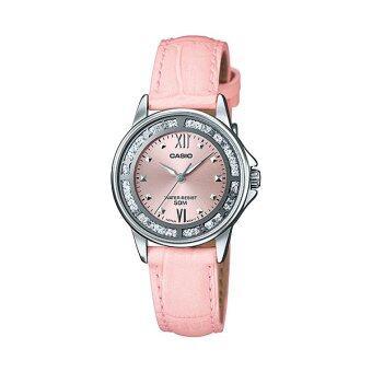 Casio Standard นาฬิกาข้อมือผู้หญิง สายหนัง รุ่น LTP-1391L-4AVDF (Pink)