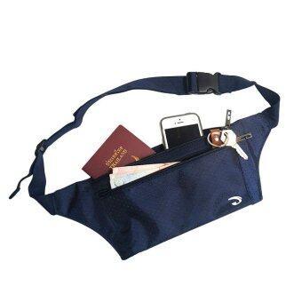 Lotte กระเป๋าคาดเอว แนบตัว กันน้ำ ซิปแข็งแรง 3 ช่อง - JA1002 (สีกรมท่า)