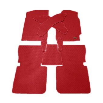 Matpro พรมปูพื้นเข้ารูป 100% ลายกระดุม ชุด Standard Set 9 ชิ้น - TOYOTA CAMRY 2007-2011 (สีแดงขอบแดง)