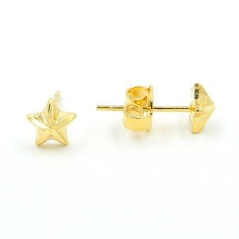 MODANO ต่างหูก้านเสียบสำหรับสุภาพสตรี รูปดาว ทองคำแท้ 1M รุ่น SMG-E07
