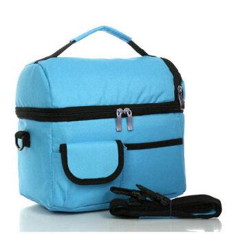 Coolbag กระเป๋าเก็บความเย็นปิคนิก สีฟ้า