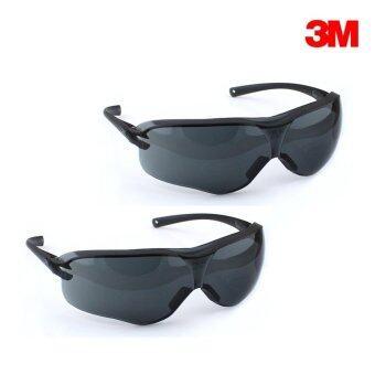 ชุดคู่ 3M แว่นตานิรภัยรุ่น Virtua Sport Asian Fit เลนส์โพลีคาร์โบเนต กันฝ้า กันกระแทก (สีดำ) 2 ชิ้น