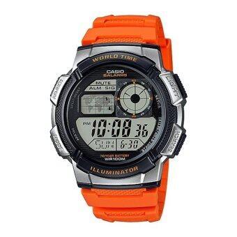 Casio Standard นาฬิกาข้อมือผู้ชาย สายเรซิ่น AE-1000W-4BV