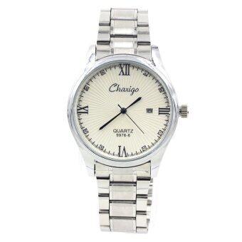 Sevenlight นาฬิกาข้อมือผู้ชาย ระบบวันที่ - GP9232 (Silver/ White)