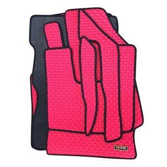 Matpro พรมปูพื้นเข้ารูป 100% ลายกระดุม ชุด Standard Set 7 ชิ้น NISSAN ALMERA (Red)