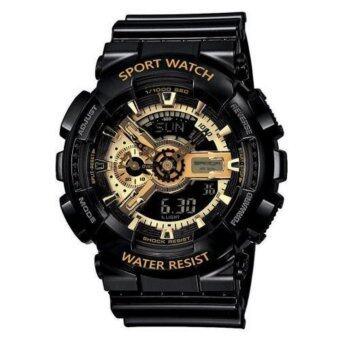 แนะนำ S SPORT Watch ชายและหญิง (แถมกล่องสวยหรู) กันน้ำได้ดี GA110GB-1A(Black/ Gold) แนะนำ