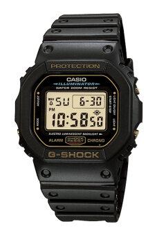 Casio G-Shock ผู้ชายสีดำยางรัดนาฬิกา DW-5600EG-9