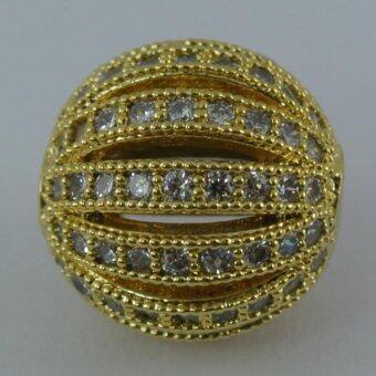 Pearl Jewelry จี้ลูกบอลเพชรสีทอง 10 มิล Pendant 05