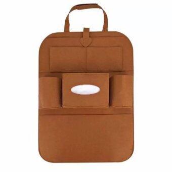 iBettalet ที่ใส่ของในรถเอนกประสงค์ กระเป๋าใส่สัมภาระอเนกประสงค์ด้านหลังเบาะ สีน้ำตาล