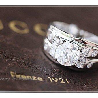 ManeeNopparut มณีณพรัช แหวนทอง (ชาย) เพชรสวิส รุ่น RM006