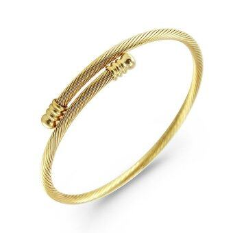 555jewelry 316L Bangle กำไล รุ่น MNC-BG222-B (Yellow gold)