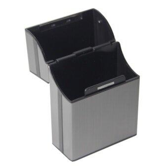 Shop Jung กล่องใส่บุหรี่ Aluminum Metal Cigarette Case รุ่น 000291 -2(Gray) (image 1)