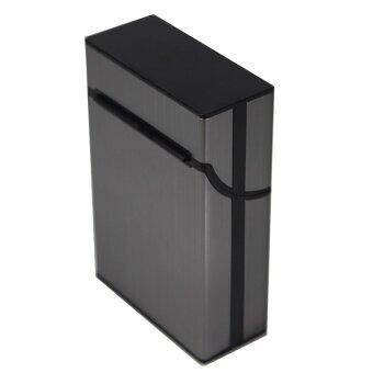Shop Jung กล่องใส่บุหรี่ Aluminum Metal Cigarette Case รุ่น 000291 -2(Gray) (image 3)