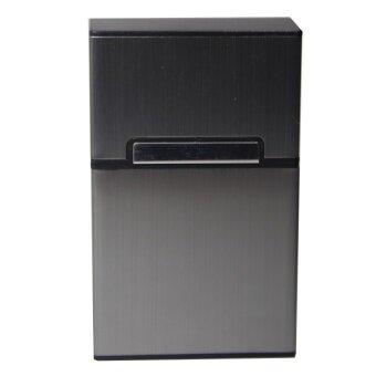 Shop Jung กล่องใส่บุหรี่ Aluminum Metal Cigarette Case รุ่น 000291 -2(Gray) (image 0)