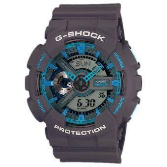 Casio G-Shock นาฬิกาข้อมือผู้ชาย สีเทา/ฟ้า สายเรซิน รุ่น GA-110TS-8A2