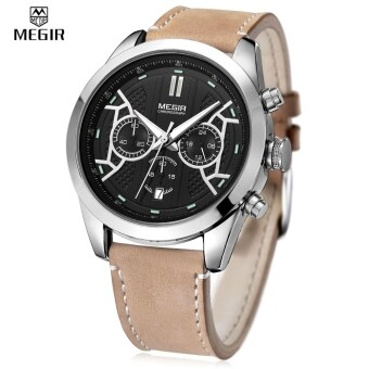 MEGIR 3016 โครโนกราฟนาฬิกาควอทซ์ชาย 24ชั่วโมงแสดงผลเรืองแสงนาฬิกาข้อมือ