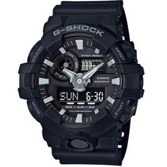 Casio G-Shock นาฬิกาข้อมือผู้ชาย สายเรซิ่น รุ่น GA-700-1B - สีดำ(Black)