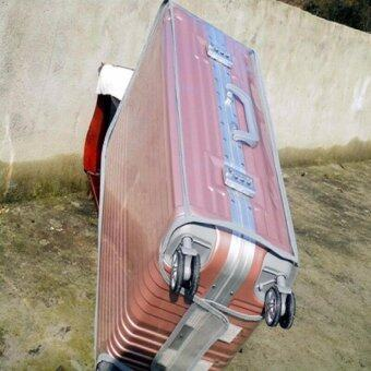 DC168พลาสติกใสคลุมกระเป๋าเดินทาง 20 นิ้ว กันเปื้อน กันริ้วรอยและกันน้ำ PVC Cover