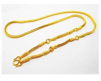 Thai Jewelry สร้อยคอทองคำ 5 ห่วง งานทองไมครอน ชุบด้วยเศษทองคำแท้ 96.5% หนัก 2 บาท 2 สลึง ยาว 27 นิ้ว