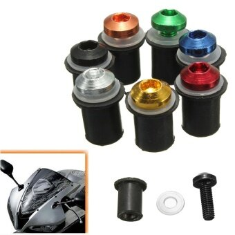 Harga 10 PCS Motorcycle M5 x 16mm CNC Windscreen Windshield Screw Bolts Nuts Kit (Color Random Delivery)