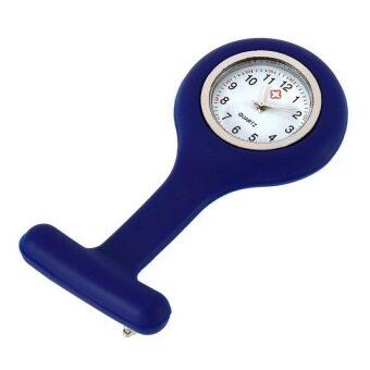 โอมินิแบบพกพาเจลซิลิโคนหมอพยาบาลกระเป๋าเข็มกลัดเสื้อกางเกงนาฬิกา (สีน้ำเงิน)