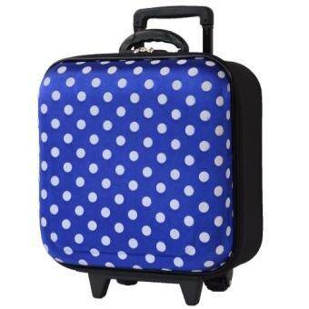 Wheal กระเป๋าเดินทางหน้านูน กระเป๋าล้อลาก 16x16 นิ้ว Code F33516 B-Dot (Blue)