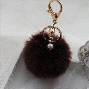 โทรศัพท์มือถือพวงกุญแจกระต่ายสัตว์เลี้ยงจี้รถพวงกุญแจกระเป๋าถือพู่เครื่องราง