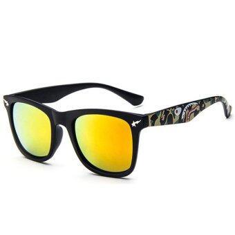 Man style Sunglasses แว่นตากันแดด รุ่น 15929 C07(Red/Black)