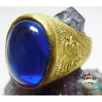 hindd แหวน.. เพชรพญานาค.. (สีน้ำเงิน) ตัวเรือนทองเหลือง