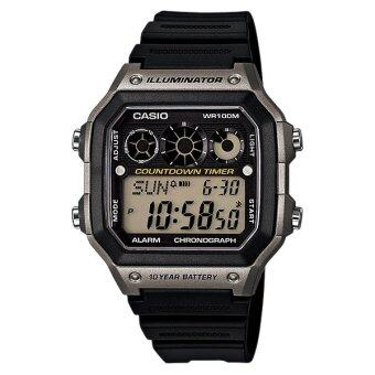 Casio Standard นาฬิกา Digital รุ่น AE-1300WH-8AV - Black/Grey