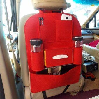 iBettalet ที่ใส่ของในรถเอนกประสงค์ กระเป๋าใส่สัมภาระอเนกประสงค์ด้านหลังเบาะ สีส้ม
