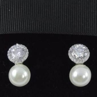 Pearl Jewelry ต่างหูมุกแก้ว P1