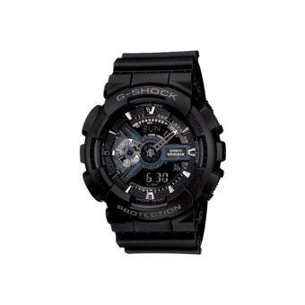 Casio G-Shock นาฬิกาข้อมือผู้ชายสาย เรซิ่นสีดำ รุ่น GA-110-1B ประกัน CMG