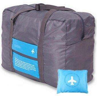 TravelGear24 กระเป๋าเดินทางแบบพับได้ (Blue/สีฟ้า) ล็อกกับกระเป๋าเดินทางได้ Travel Foldable Bag กระเป๋าพับได้ กระเป๋าเดินทางพับได้ (image 1)